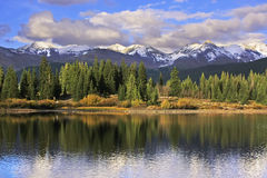 Molas lake and Needle mountains, Weminuche wilderness, Colorado Stock Image