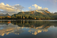 Molas lake and Needle mountains, Weminuche wilderness, Colorado. USA Royalty Free Stock Photography