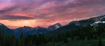 Molas Pass Sunset stock images