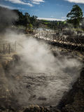 Molas térmicas vulcânicas de Furnas Foto de Stock