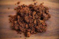 Molasses brown sugar from sugarcane Stock Image