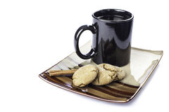 Molasses cookie with coffee Stock Photo