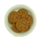 Molasses Cookies On Paper Plate Stock Photography