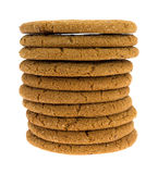 Molasses Cookies Stacked Stock Photo