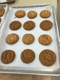 Molasses & peanut butter cookies Royalty Free Stock Images