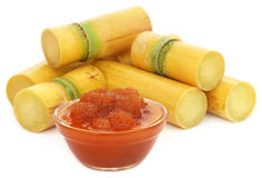 Molasses with sugarcane Royalty Free Stock Images