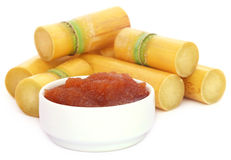 Molasses with sugarcane Royalty Free Stock Photography