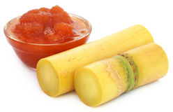 Molasses with sugarcane Stock Photo