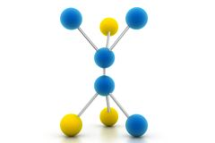 Molécula Foto de archivo libre de regalías
