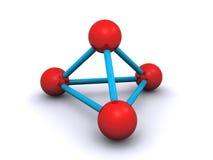Molécula 3d Imagens de Stock