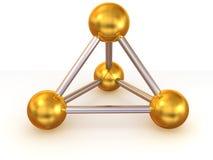 Molécula Fotografia de Stock