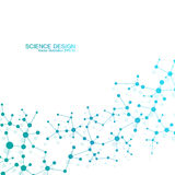 Molécula de la estructura de la DNA y de las neuronas Átomo estructural compuestos químicos Medicina, ciencia, concepto de la tec Fotos de archivo