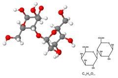 Molécula de la lactosa Imagen de archivo libre de regalías