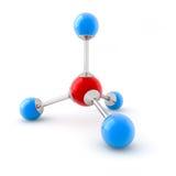 Molécula del metano Foto de archivo libre de regalías