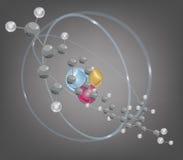 Molécula grande y estructura atómica Imagen de archivo libre de regalías