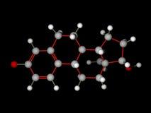 Molécule d'oestrogène Photographie stock