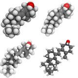 Molécule de la vitamine D3 (cholecalciferol) Photo libre de droits