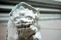 Mold of Chinese Lion Stone. Close up Mold of Chinese Lion Stone Royalty Free Stock Photo