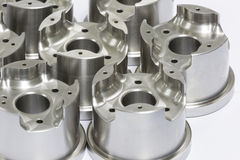 Mold and die parts machining by CNC. Mold and die parts machining by high precision CNC machining royalty free stock photography