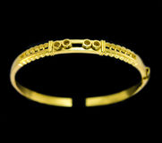 Mold of gold bracelets Royalty Free Stock Image