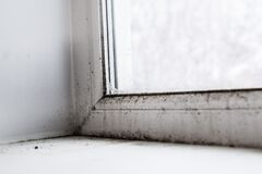 Free Mold In The Corner Of The Window Stock Photos - 180640683