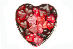 Mold with jelly heart Stock Images