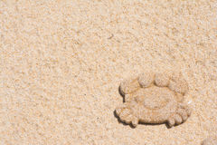 Mold sand of crab on the beach Royalty Free Stock Images