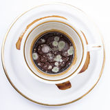 Mold in the unwashed cup Royalty Free Stock Photo