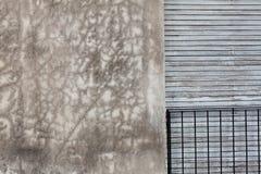 Mold wall, a balcony and window Stock Photo