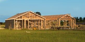 Moldação de madeira da casa Imagens de Stock Royalty Free
