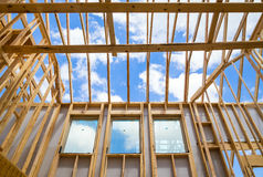 Moldação home da construção nova Fotografia de Stock Royalty Free