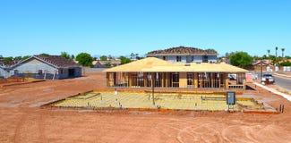 Moldação home nova da construção residencial Imagens de Stock Royalty Free