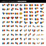 Moldau-Flagge, Vektorillustration Stockbilder
