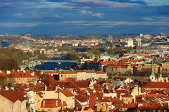 Moldau, Old Town, Lesser Town, Panorama of Prague, Czech Republic Royalty Free Stock Photo