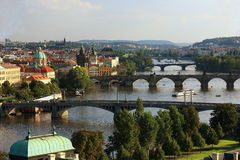 Moldau, Panorama of the Prague, old Town, Prague, Czech republic Stock Photo