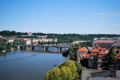The Moldau in Prague Stock Photos