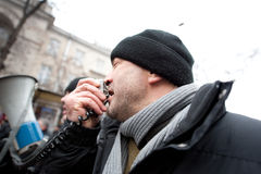 Moldau - regierungsfeindliche Demonstrationen Lizenzfreies Stockbild