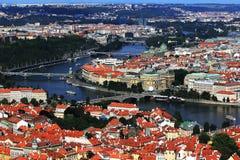 Moldau, St. Nikolas Church, Charles Bridge, Prague Royalty Free Stock Image