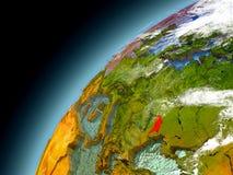 Moldau von der Bahn von vorbildlichem Earth Stockfoto