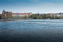 Moldava (río) Fotografía de archivo libre de regalías