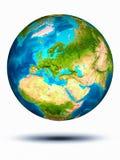 Moldavië ter wereld met witte achtergrond Stock Afbeelding