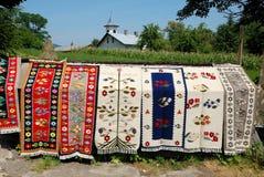 Moldavian handicraft carpets Stock Photo
