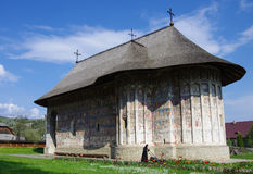 Moldavian medieval Monastery of Humor/ Moldavia's painted monast Royalty Free Stock Image