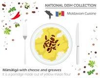 Moldavien kokkonst Europeisk nationell maträttsamling Moldavian mor vektor illustrationer