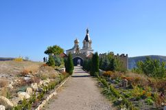 Moldavien Orhei Complexul muzeal Orheiul Vechi Royaltyfri Bild