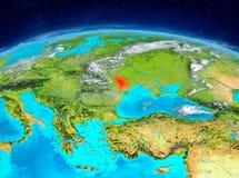 Moldavien på jord Arkivfoto
