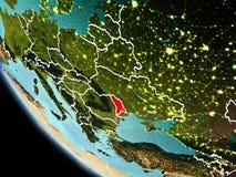 Moldavien på natten på jord Royaltyfri Foto
