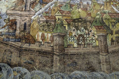Moldavita, Ρουμανία, Ευρώπη, μοναστήρι στοκ εικόνα