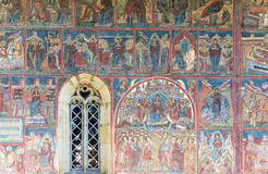 Moldavita Monastery. Famous painted wall at Moldavita Monastery Stock Photography