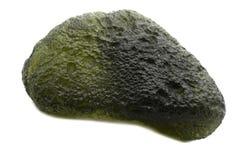 Moldavite. Sample of Moldavite a beautiful nature specimen isolated on white background royalty free stock images